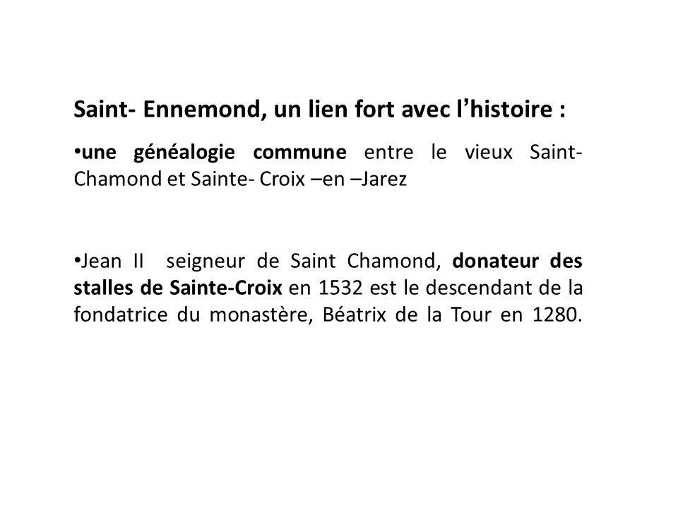 À partir de maquette : St-Ennemond (le vieux St-Chamond) Vue en 1644