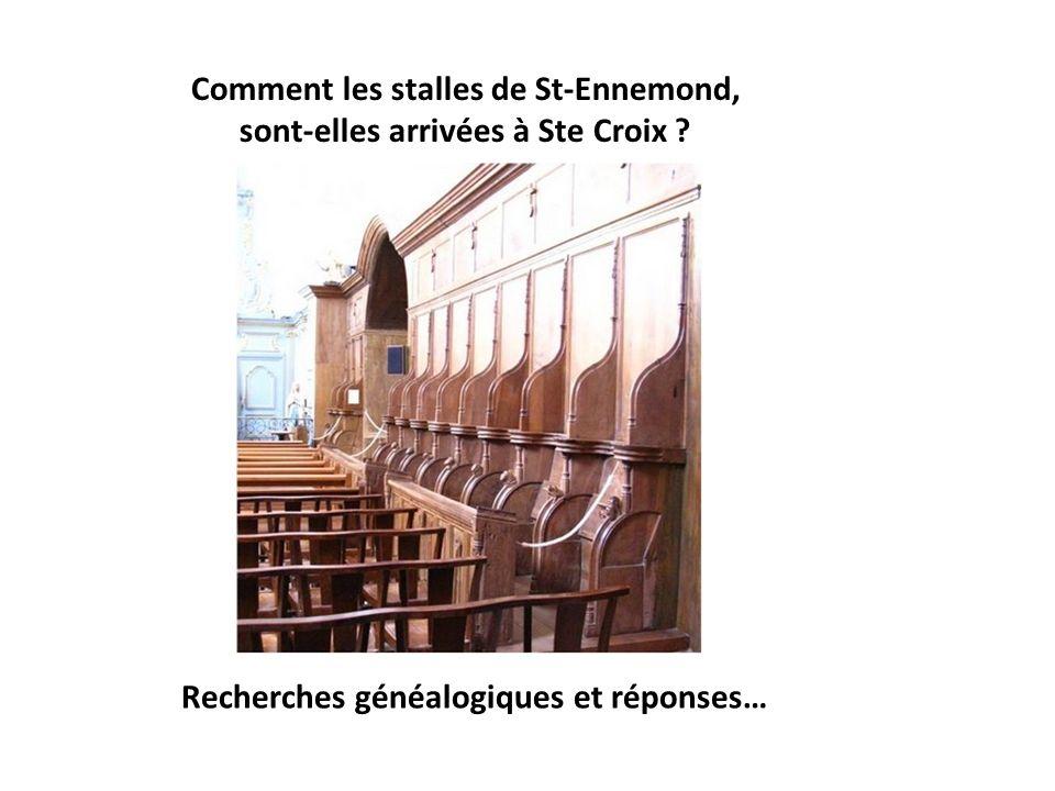 Saint- Ennemond, un lien fort avec lhistoire : une généalogie commune entre le vieux Saint- Chamond et Sainte- Croix –en –Jarez Jean II seigneur de Sa