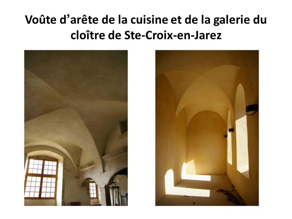 Voûte en berceau et voûte en berceau brisé St SerninFontenay, ancienne abbaye cistercienne (1139-1147)