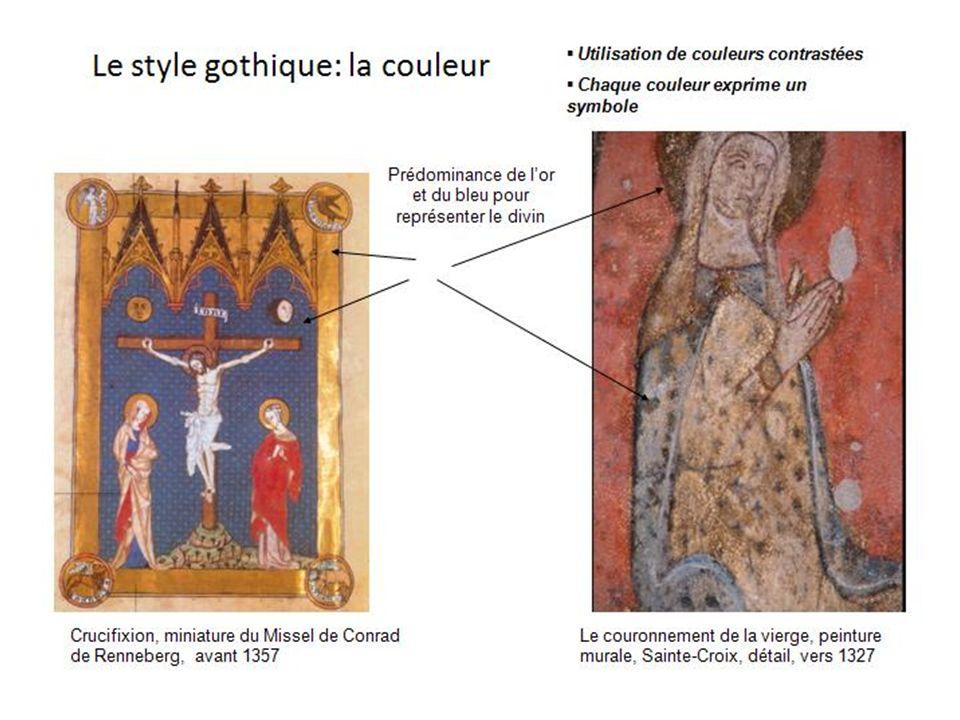LE STYLE GOTHIQUE DANS LA PEINTURE MURALE La couleur La représentation spatiale La représentation humaine