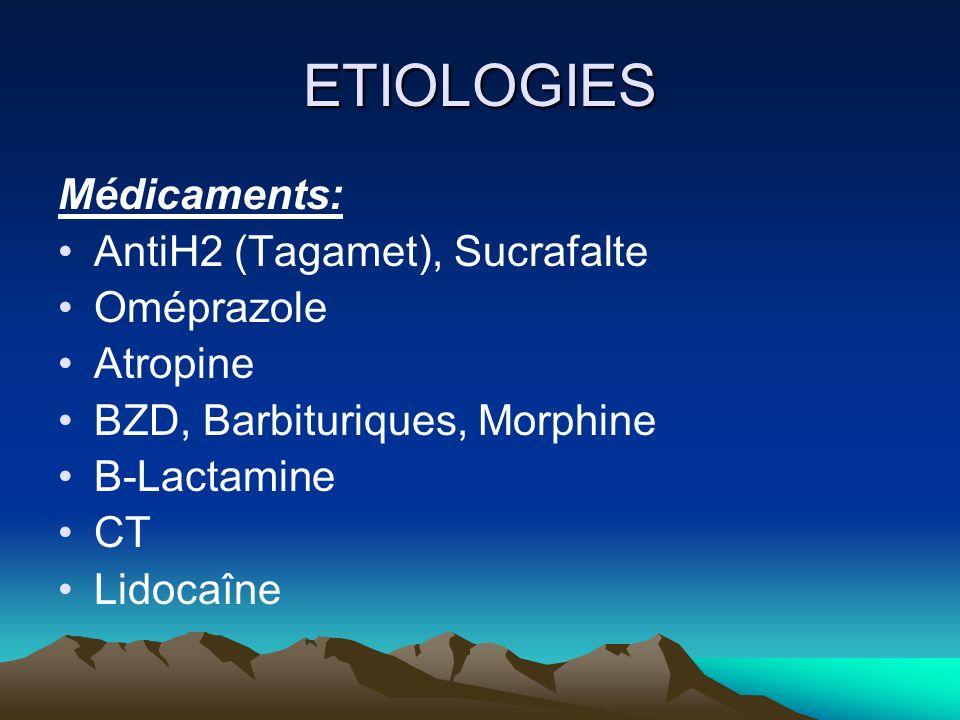 ETIOLOGIES Sevrage: OH, BZD, Morphiniques, ATD TRT non codifié: Réintro sédation, dose plus faible, décroissance progressive Clonidine Intro en parrallèle NL
