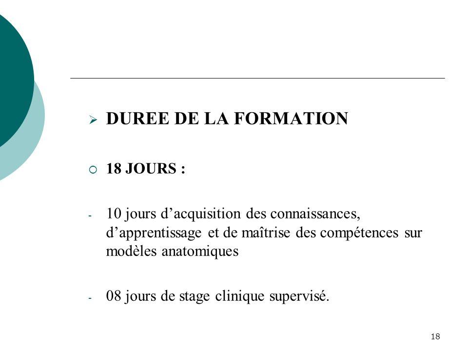 17 4.2 LA FORMATION DE PRESTATAIRES EN SONU 4.2.1 APERCU DE LA FORMATION DISPENSÉE DESCRIPTION DU STAGE DE FORMATION Le stage de formation clinique vi