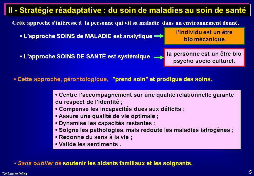 4 Dr Lucien Mias Dans les derniers stades de la maladie d'Alzheimer, l'approche relationnelle sous-tend le comportement des soignants. L'attention se