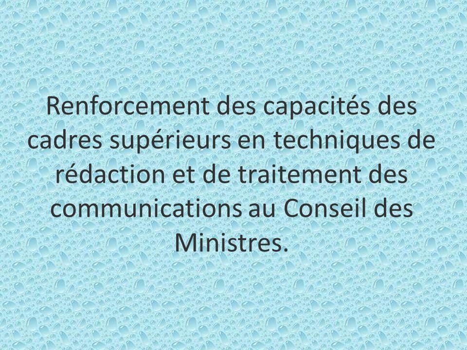 1 - Contexte et justification Différentes questions ou préoccupations nationales ou sectorielles appellent de la part du Gouvernement une prise de décision.