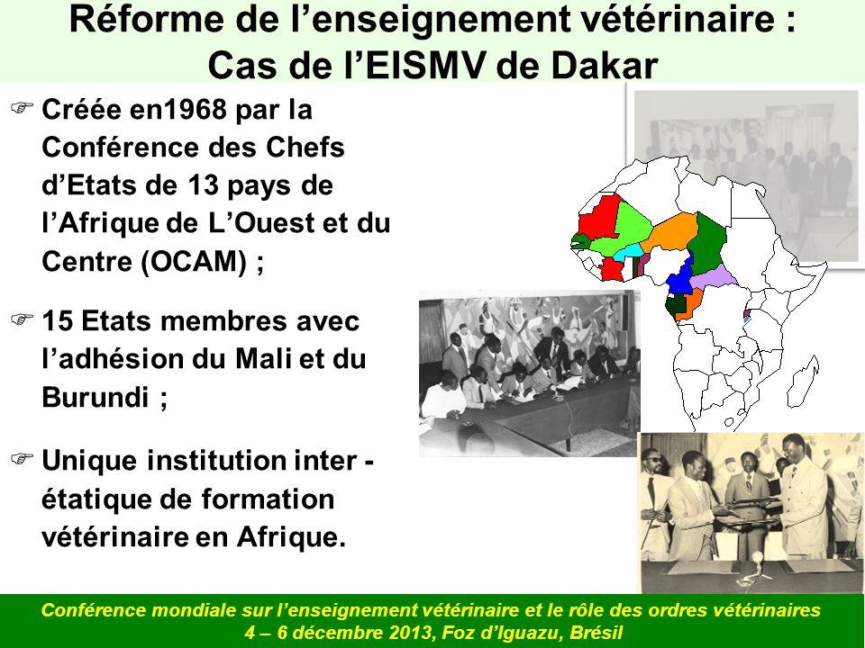 Créée en1968 par la Conférence des Chefs dEtats de 13 pays de lAfrique de LOuest et du Centre (OCAM) ; 15 Etats membres avec ladhésion du Mali et du B