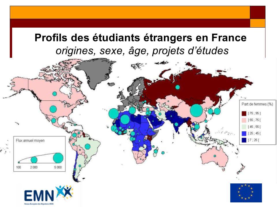 Profils des étudiants étrangers en France Nombre d années d études en France selon le continent d origine
