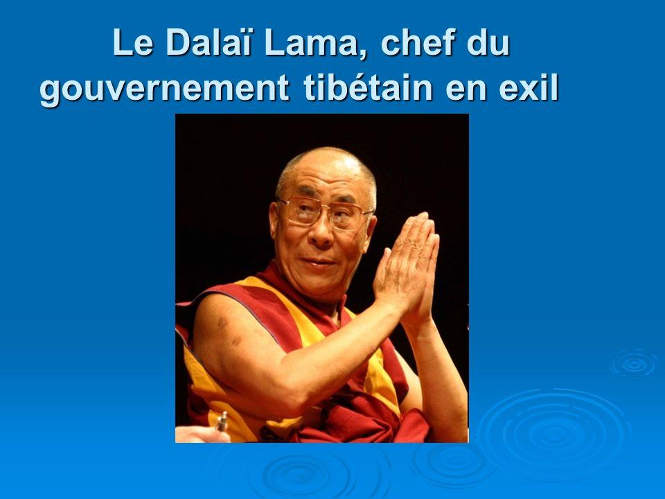 Le Dalaï Lama, chef du gouvernement tibétain en exil Le Dalaï Lama, chef du gouvernement tibétain en exil