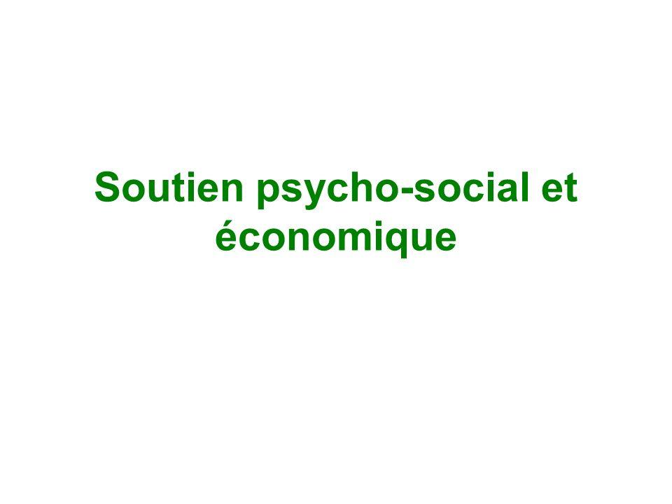 Soutien psycho-social et économique