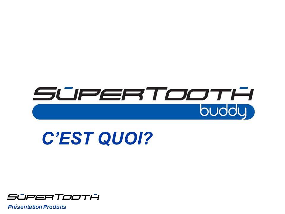 CEST QUOI.Le SuperTooth Buddy est un kit mains-libres Bluetooth sans installation pour la voiture.