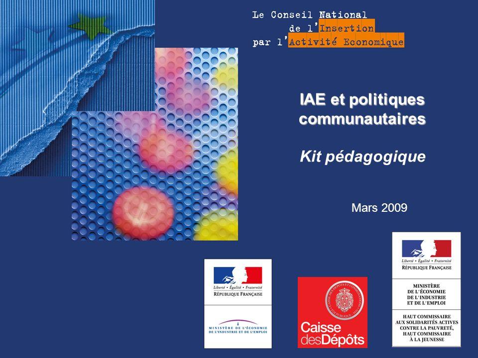 IAE et politiques communautaires IAE et politiques communautaires Kit pédagogique Mars 2009