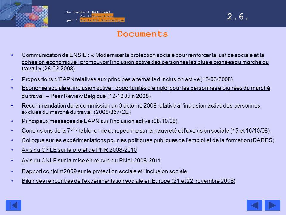 Documents Communication de ENSIE : « Moderniser la protection sociale pour renforcer la justice sociale et la cohésion économique : promouvoir l'inclu