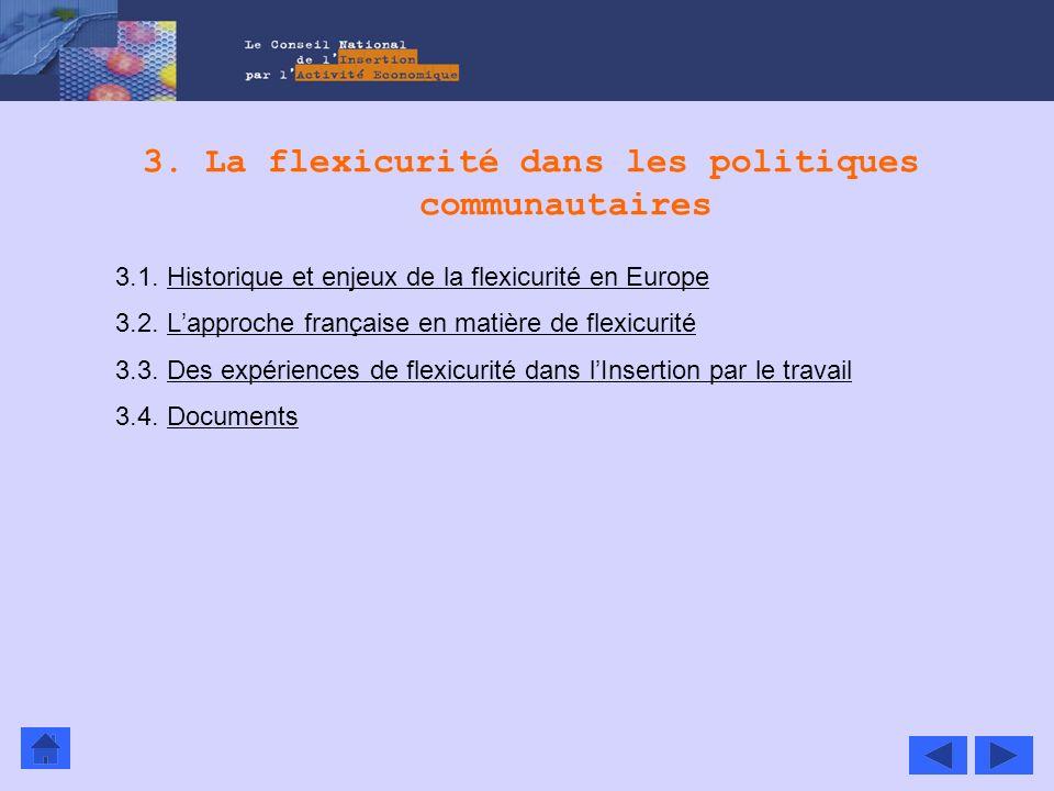 3. La flexicurité dans les politiques communautaires 3.1. Historique et enjeux de la flexicurité en EuropeHistorique et enjeux de la flexicurité en Eu