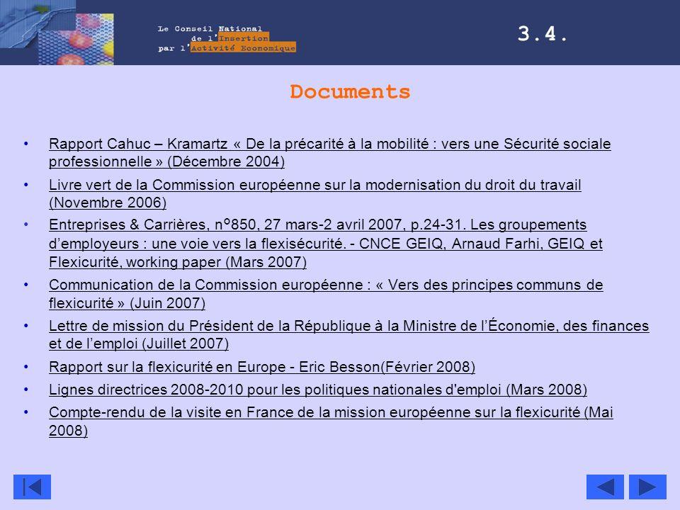 Documents Rapport Cahuc – Kramartz « De la précarité à la mobilité : vers une Sécurité sociale professionnelle » (Décembre 2004)Rapport Cahuc – Kramar