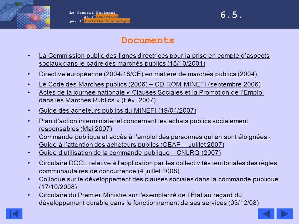 Documents La Commission publie des lignes directrices pour la prise en compte daspects sociaux dans le cadre des marchés publics (15/10/2001)La Commis