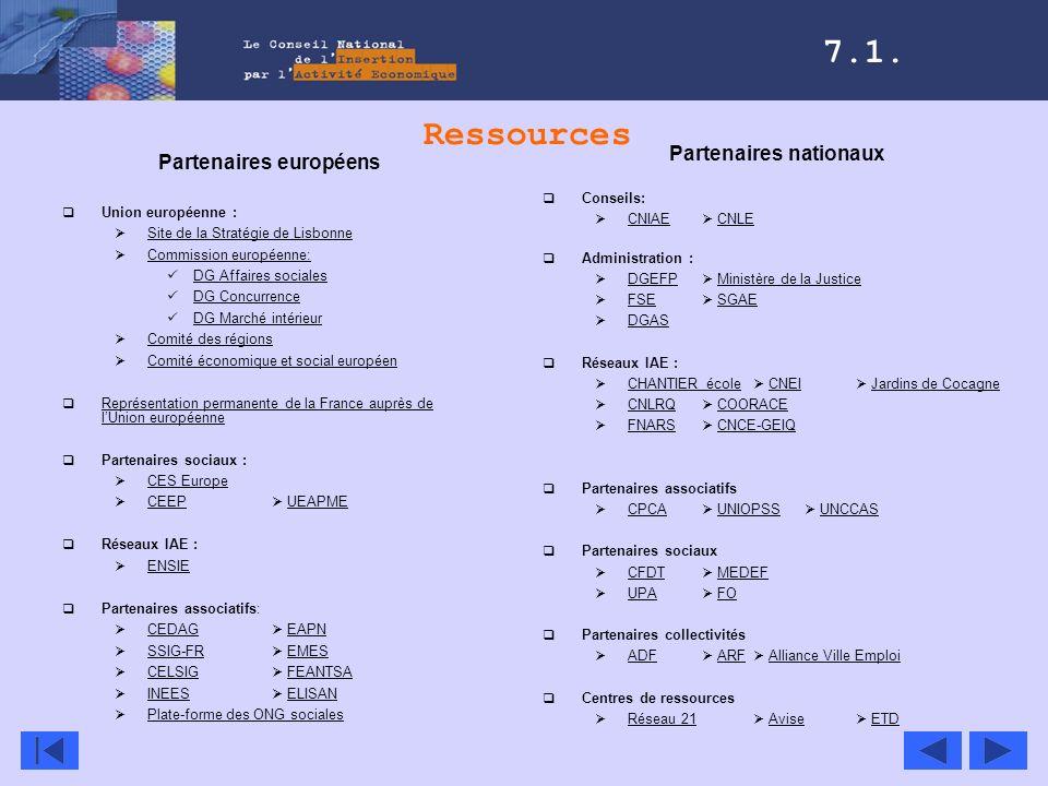 Ressources Partenaires européens Union européenne : Site de la Stratégie de Lisbonne Commission européenne: DG Affaires sociales DG Concurrence DG Mar