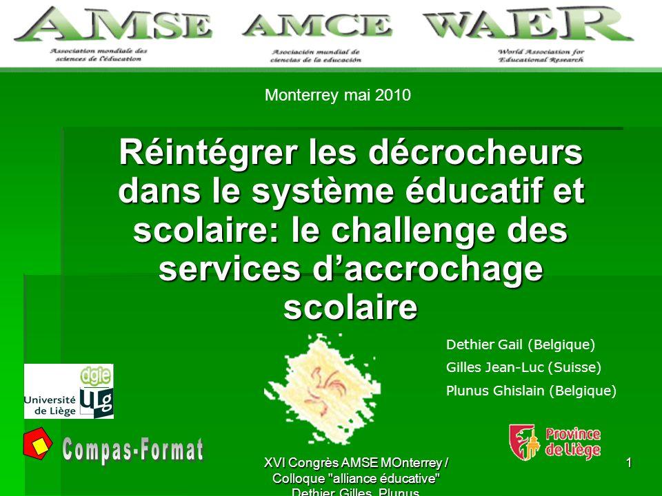 STRUCTURE 1.Le contexte de la Communauté française en Belgique; 2.
