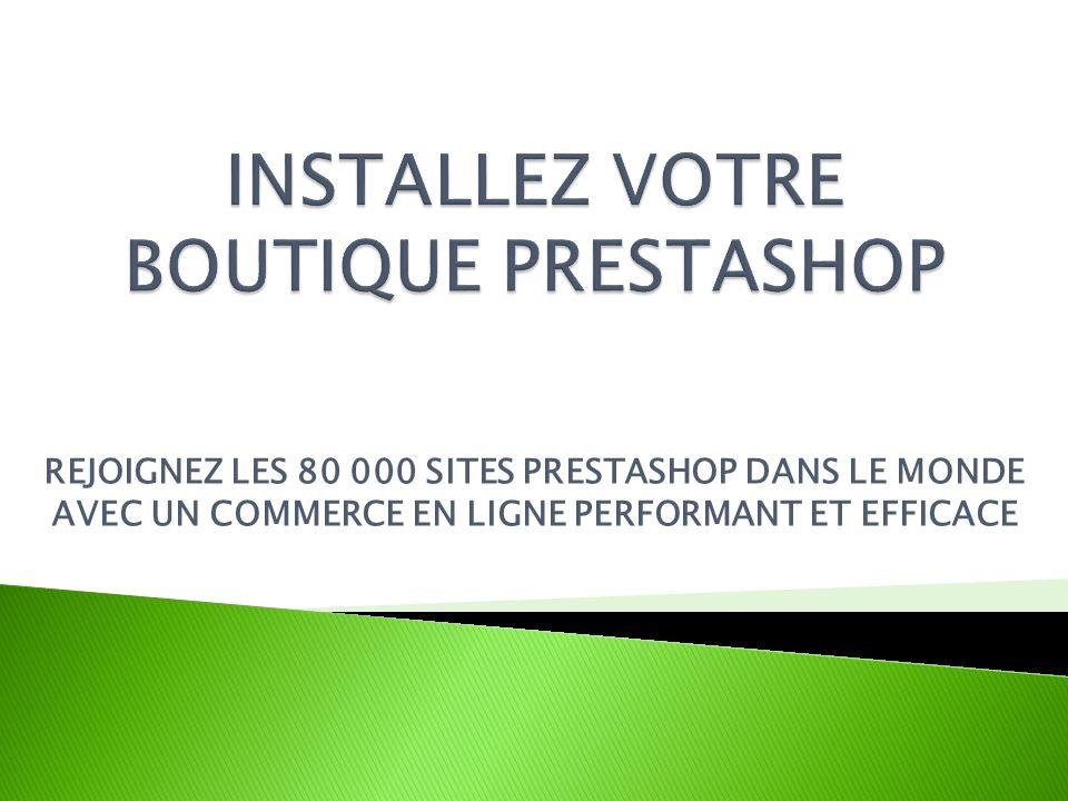 PrestaShop est un logiciel open-source vous permettant de créer une boutique en ligne gratuitement, opérationnelle dès son installation.