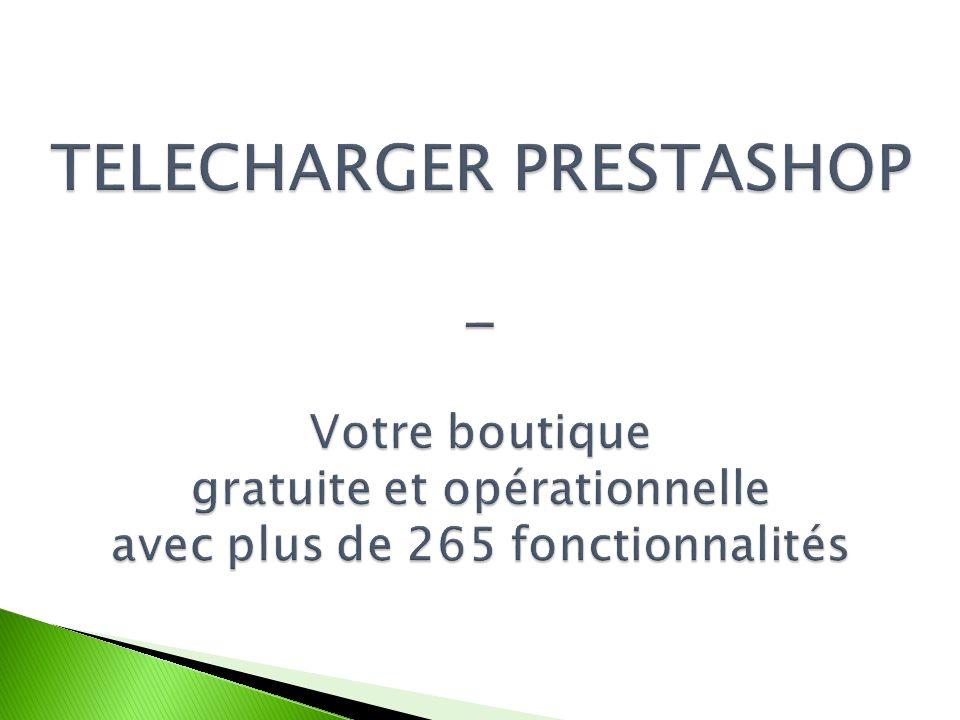 1 2 Vous pouvez maintenant procéder au transfert de PrestaShop sur votre serveur.