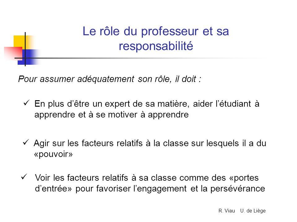 Le rôle du professeur et sa responsabilité Pour assumer adéquatement son rôle, il doit : En plus dêtre un expert de sa matière, aider létudiant à appr
