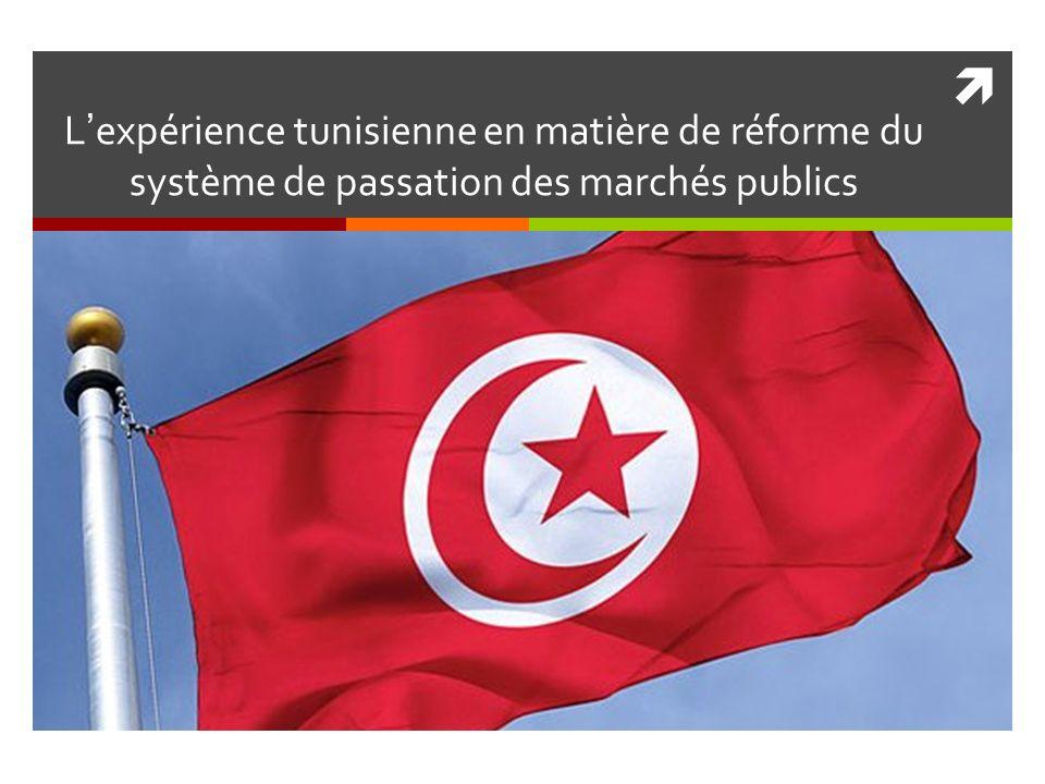 Lexpérience tunisienne en matière de réforme du système de passation des marchés publics