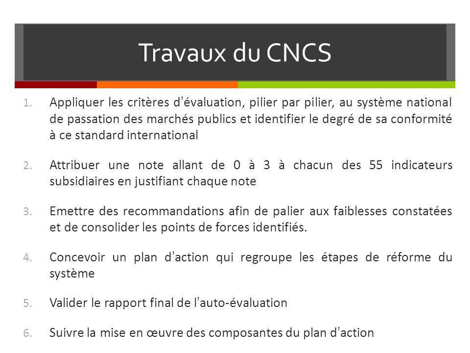 Travaux du CNCS 1.