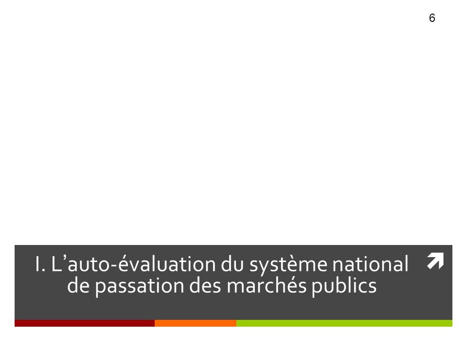 CHAPITRE I I. Lauto-évaluation du système national de passation des marchés publics 6