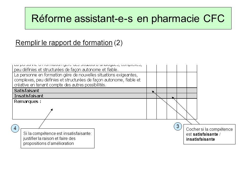 Réforme assistant-e-s en pharmacie CFC Évaluer le dossier de formation 5