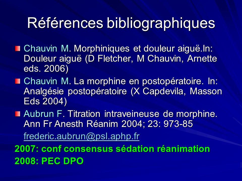 Références bibliographiques Chauvin M.
