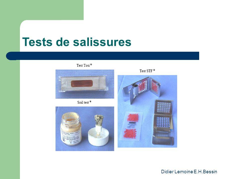 Didier Lemoine E.H.Bessin Tests de salissures