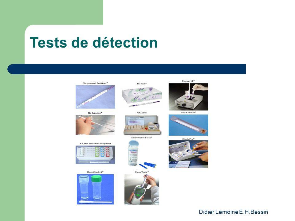 Didier Lemoine E.H.Bessin Tests de détection