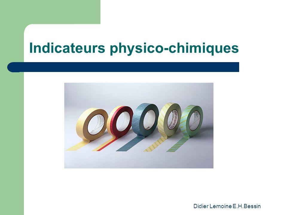 Didier Lemoine E.H.Bessin Indicateurs physico-chimiques