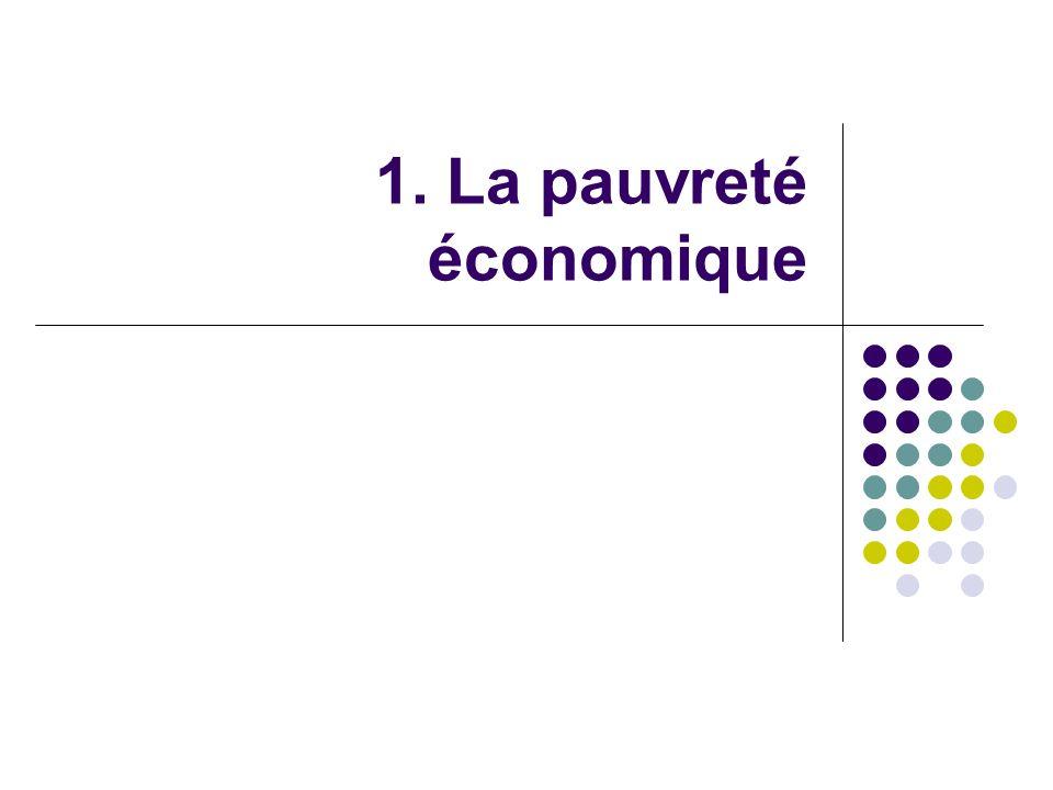 1. La pauvreté économique