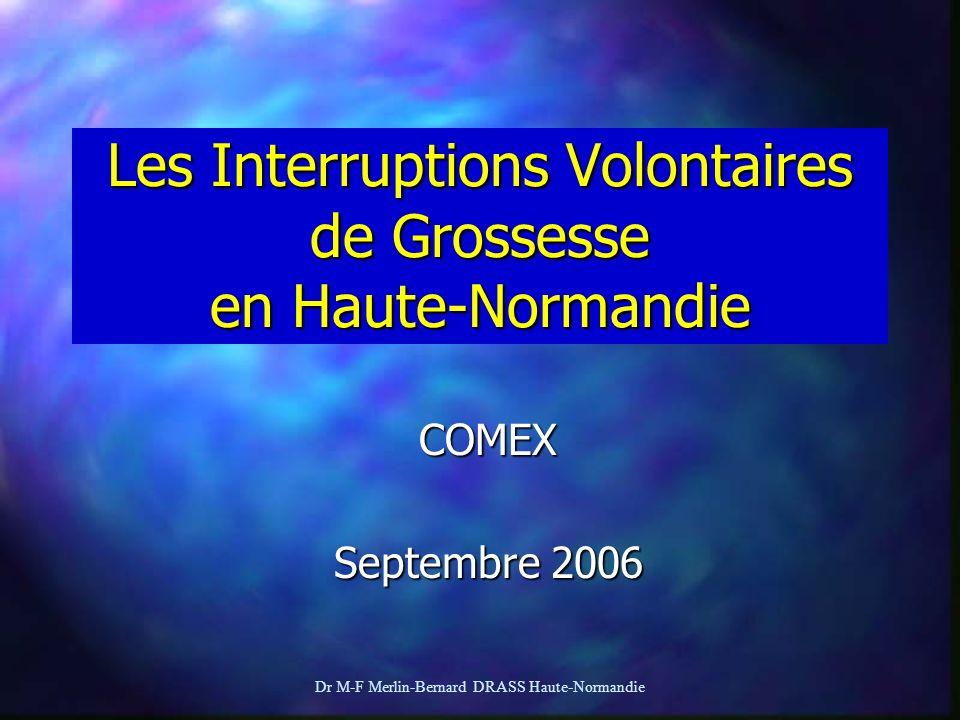 Dr M-F Merlin-Bernard DRASS Haute-Normandie Les Interruptions Volontaires de Grossesse en Haute-Normandie COMEX Septembre 2006