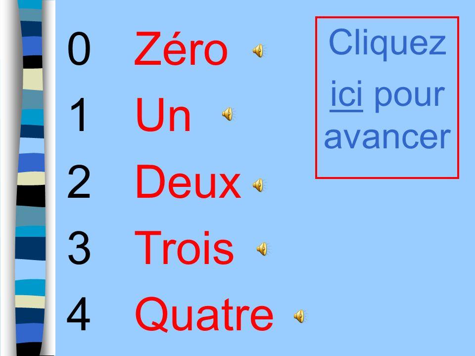Les nombres 0-10 Première année de français E.S.O.
