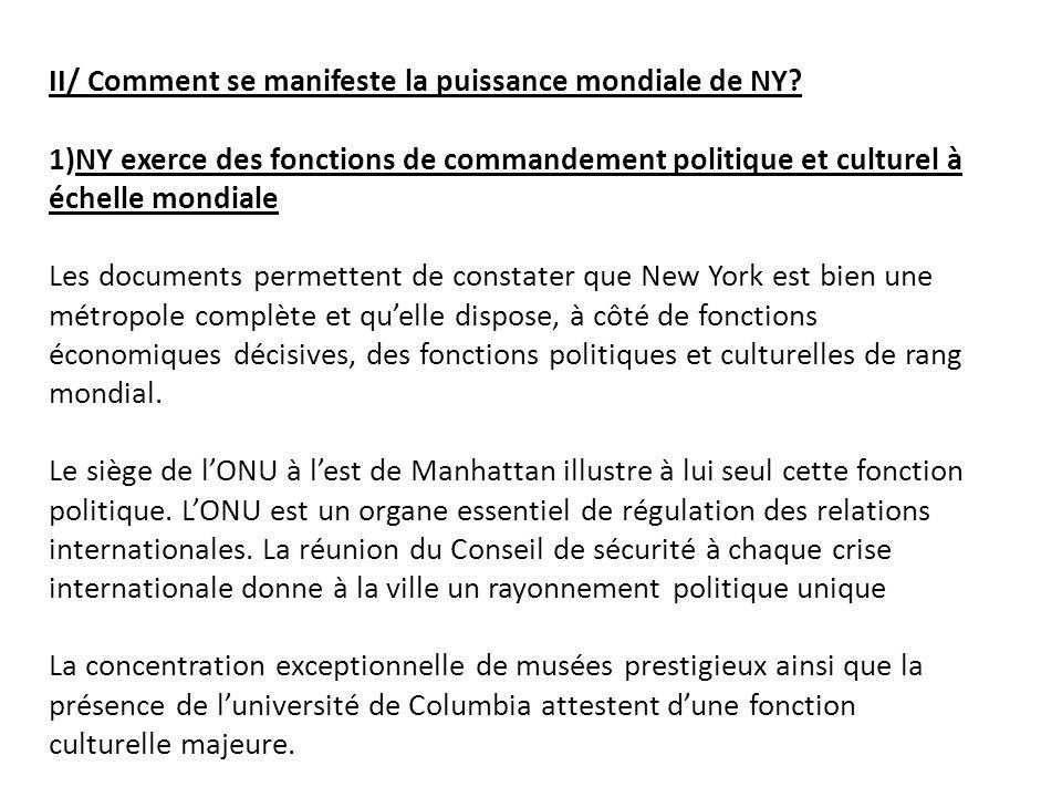 2) Quelles autres fonctions de NY apparaissent dans ces documents.