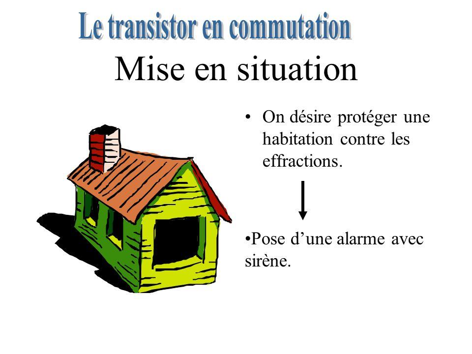 Mise en situation On désire protéger une habitation contre les effractions.