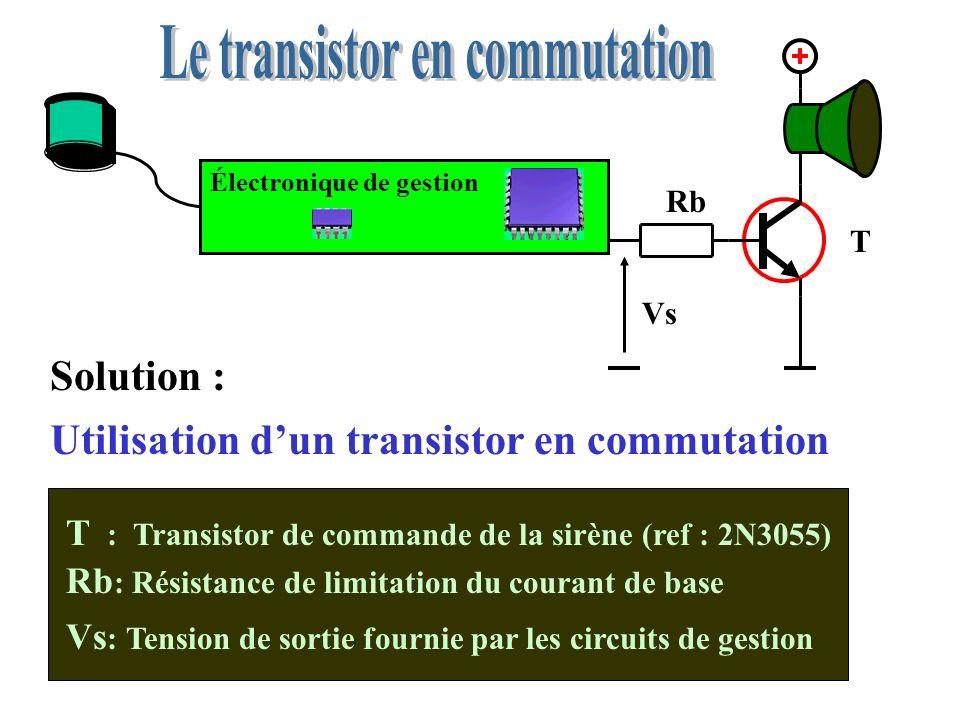 Le transistor est défectueux: il est en court-circuit entre collecteur et émetteur On peut le vérifier à laide dun ohm-mètre Aide au dépannage Résistance quasiment nulle !
