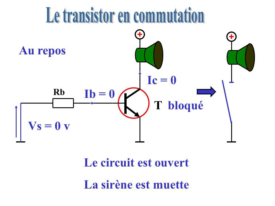 V BE = 0 v la résistance Rb doit être coupée V BE = 0,7 v le transistor est coupé, il est défectueux Aide au dépannage Rb T 5 v On mesure V BE V BE