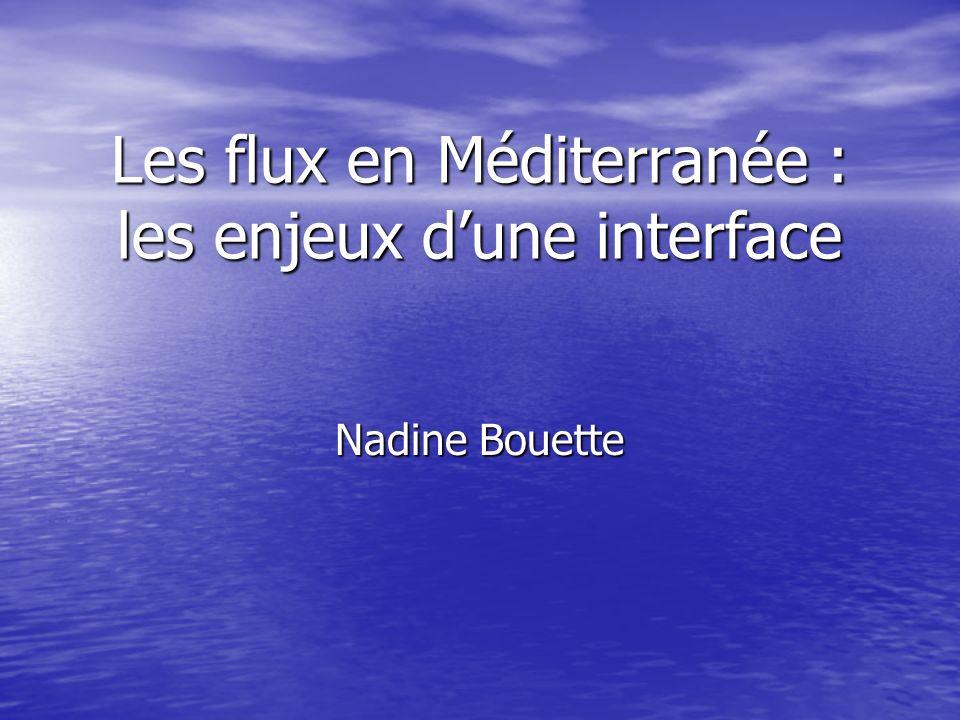 Les flux en Méditerranée : les enjeux dune interface Nadine Bouette