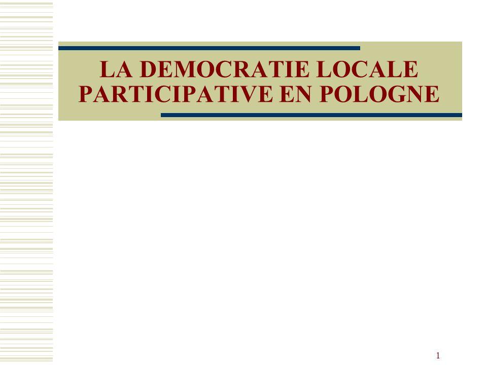1 LA DEMOCRATIE LOCALE PARTICIPATIVE EN POLOGNE