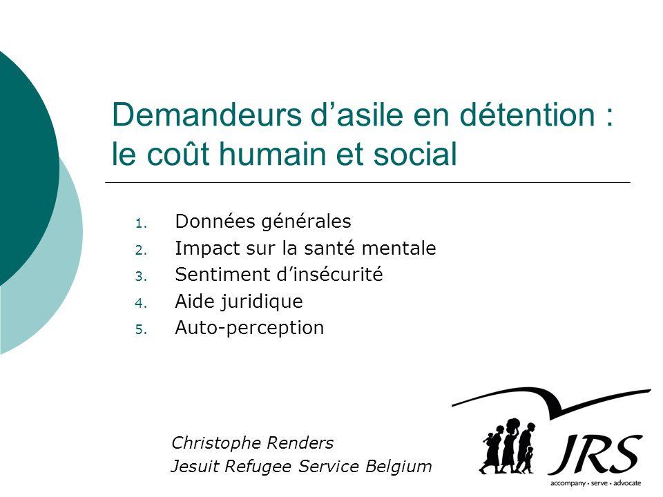 Demandeurs dasile en détention : le coût humain et social Christophe Renders Jesuit Refugee Service Belgium 1.