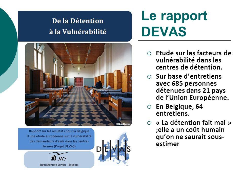 Le rapport DEVAS Etude sur les facteurs de vulnérabilité dans les centres de détention.