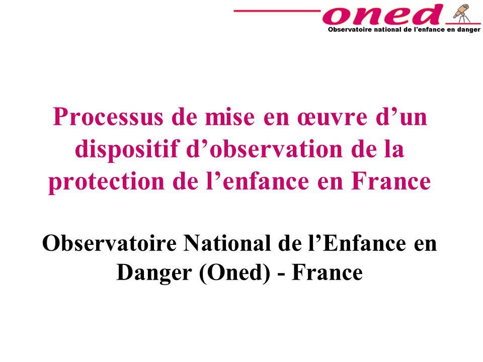 Processus de mise en œuvre dun dispositif dobservation de la protection de lenfance en France Observatoire National de lEnfance en Danger (Oned) - Fra