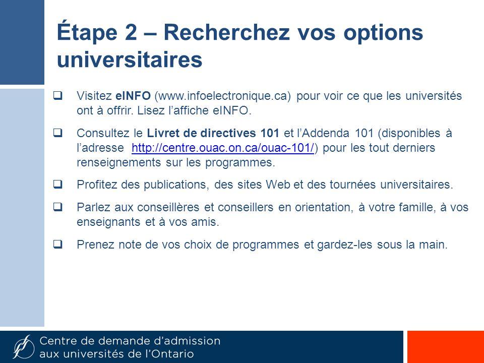 Visitez eINFO (www.infoelectronique.ca) pour voir ce que les universités ont à offrir.