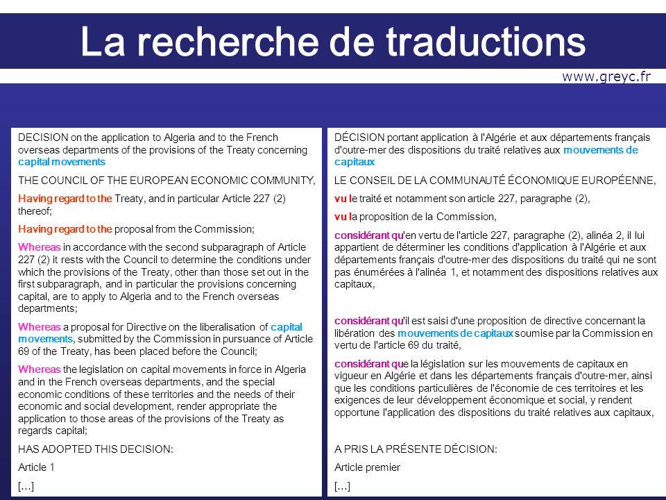 DÉCISION portant application à l Algérie et aux départements français d outre-mer des dispositions du traité relatives aux mouvements de capitaux LE CONSEIL DE LA COMMUNAUTÉ ÉCONOMIQUE EUROPÉENNE, vu le traité et notamment son article 227, paragraphe (2), vu la proposition de la Commission, considérant qu en vertu de l article 227, paragraphe (2), alinéa 2, il lui appartient de déterminer les conditions d application à l Algérie et aux départements français d outre-mer des dispositions du traité qui ne sont pas énumérées à l alinéa 1, et notamment des dispositions relatives aux capitaux, considérant qu il est saisi d une proposition de directive concernant la libération des mouvements de capitaux soumise par la Commission en vertu de l article 69 du traité, considérant que la législation sur les mouvements de capitaux en vigueur en Algérie et dans les départements français d outre-mer, ainsi que les conditions particulières de l économie de ces territoires et les exigences de leur développement économique et social, y rendent opportune l application des dispositions du traité relatives aux capitaux, A PRIS LA PRÉSENTE DÉCISION: Article premier […] DECISION on the application to Algeria and to the French overseas departments of the provisions of the Treaty concerning capital movements THE COUNCIL OF THE EUROPEAN ECONOMIC COMMUNITY, Having regard to the Treaty, and in particular Article 227 (2) thereof; Having regard to the proposal from the Commission; Whereas in accordance with the second subparagraph of Article 227 (2) it rests with the Council to determine the conditions under which the provisions of the Treaty, other than those set out in the first subparagraph, and in particular the provisions concerning capital, are to apply to Algeria and to the French overseas departments; Whereas a proposal for Directive on the liberalisation of capital movements, submitted by the Commission in pursuance of Article 69 of the Treaty, has been placed before the Council; Wherea