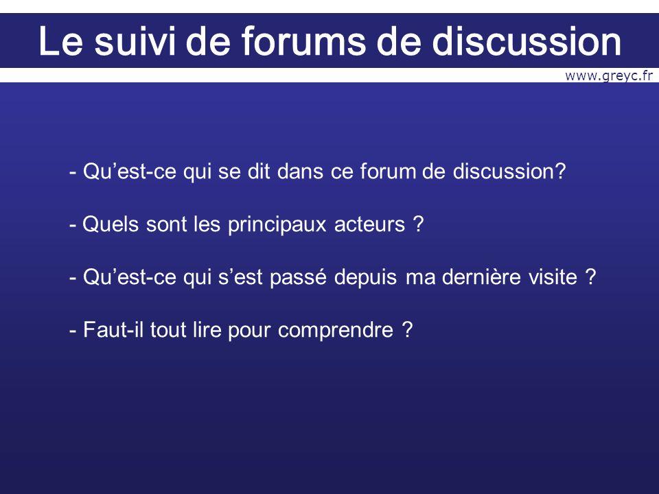 - Quest-ce qui se dit dans ce forum de discussion.