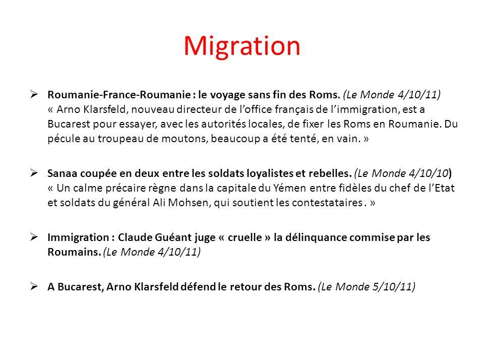 Migration Roumanie-France-Roumanie : le voyage sans fin des Roms.