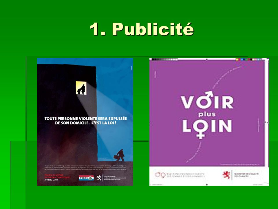 1. Publicité