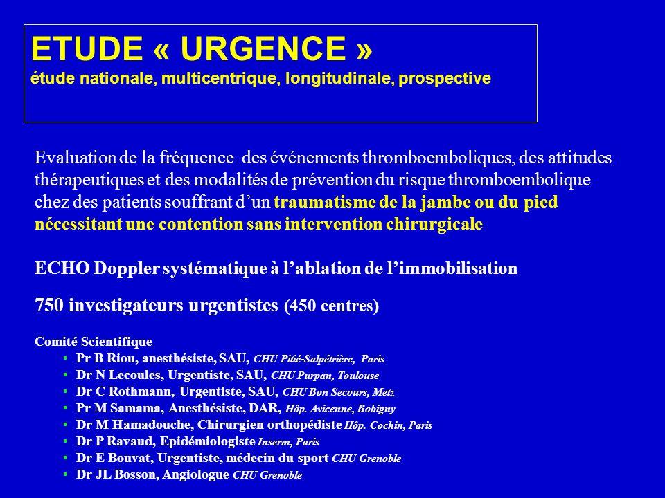 Evaluation de la fréquence des événements thromboemboliques, des attitudes thérapeutiques et des modalités de prévention du risque thromboembolique ch