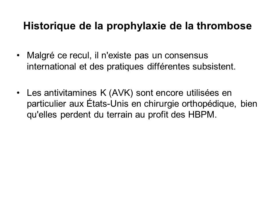 Les Européens privilégient les HBPM à raison d une injection sous- cutanée par jour, alors que les Américains sont, par exemple pour l énoxaparine, à 2 injections par jour, du fait qu ils l utilisent en postopératoire et en raison de la pharmacocinétique du produit (demi-vie de 3 à 4 heures).